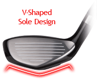 V-Shaped Sole Design