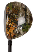 Picture of Realtree 3 wood at address